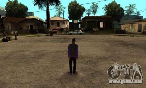 The Ballas Skin Pack para GTA San Andreas sucesivamente de pantalla