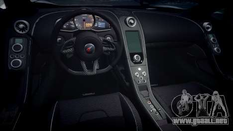 McLaren 650S Spider 2014 [EPM] v2.0 para GTA 4 vista interior