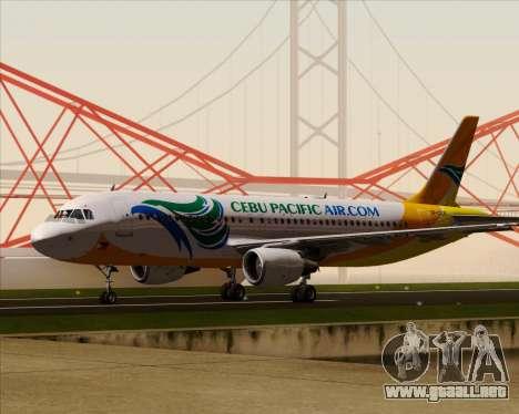 Airbus A320-200 Cebu Pacific Air para la vista superior GTA San Andreas
