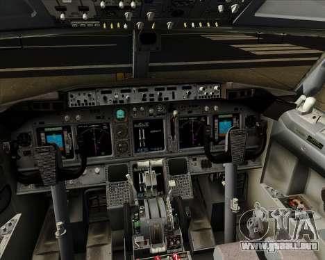 Boeing 737-800 XL Airways para GTA San Andreas interior