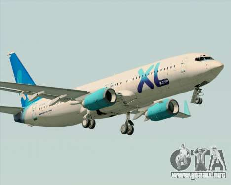 Boeing 737-800 XL Airways para las ruedas de GTA San Andreas