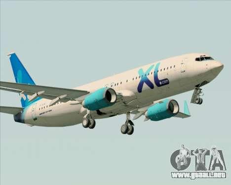 Boeing 737-800 XL Airways para las ruedas de GTA San Andreas