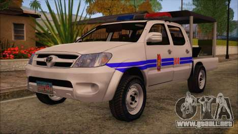 Toyota HiLux Philippine Police Car 2010 para GTA San Andreas
