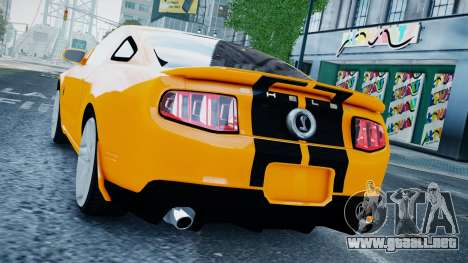 Ford Shelby Mustang GT500 2011 v1.0 para GTA 4 left