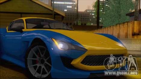 GTA 5 Lampadati Furore GT (IVF) para GTA San Andreas vista posterior izquierda