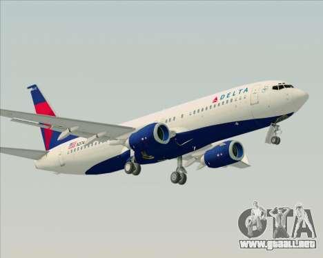 Boeing 737-800 Delta Airlines para la visión correcta GTA San Andreas