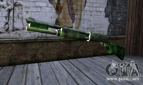 Chromegun v2 Militar para colorear para GTA San Andreas