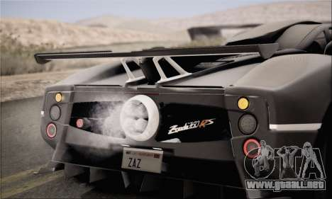 Pagani Zonda 760RS para la visión correcta GTA San Andreas