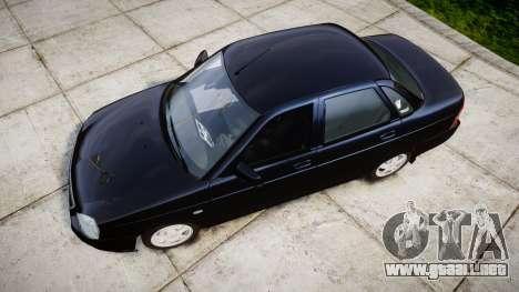 ВАЗ-2170 Lada Priora de stock para GTA 4 visión correcta