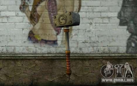 Shao Kahn Hammer From Mortal Kombat 9 para GTA San Andreas