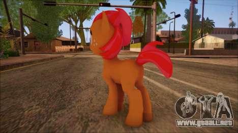 Babs Seed from My Little Pony para GTA San Andreas segunda pantalla