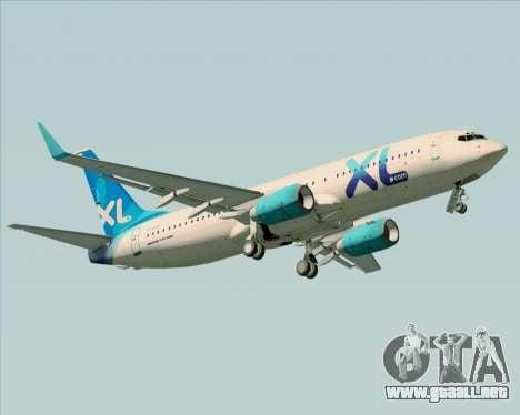 Boeing 737-800 XL Airways para vista lateral GTA San Andreas