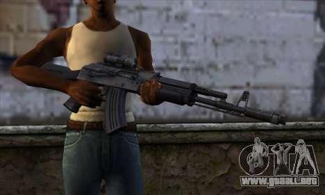 AK-103 Ravaged para GTA San Andreas tercera pantalla