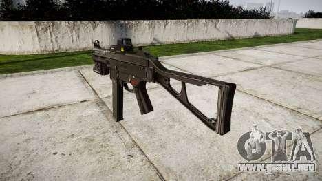 Alemán subametralladora HK UMP 45 de destino para GTA 4 segundos de pantalla
