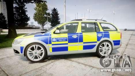 Skoda Octavia vRS Comb Metropolitan Police [ELS] para GTA 4 left