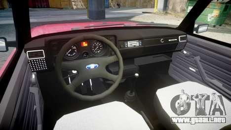 VAZ-2104 para GTA 4 vista hacia atrás