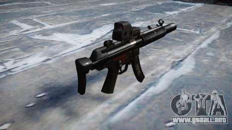 Pistola de MP5SD EOTHS CS b de destino para GTA 4 segundos de pantalla