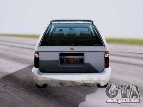 GTA V Minivan para GTA San Andreas vista posterior izquierda