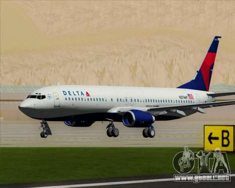 Boeing 737-800 Delta Airlines para GTA San Andreas left