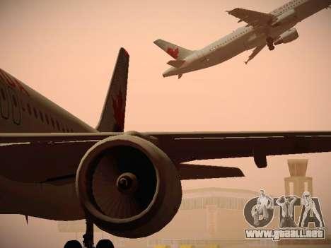 Airbus A320-214 Air Canada para vista inferior GTA San Andreas