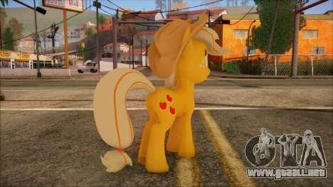 Applejack from My Little Pony para GTA San Andreas segunda pantalla