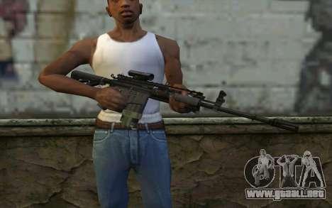 M4A1 from COD Modern Warfare 3 para GTA San Andreas tercera pantalla