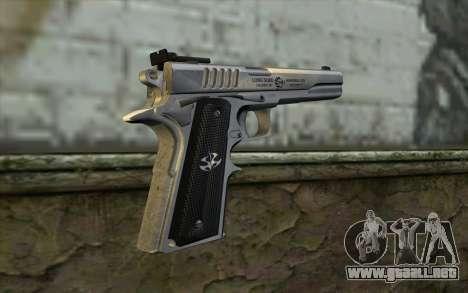 Colt 1911 Silverballer para GTA San Andreas segunda pantalla