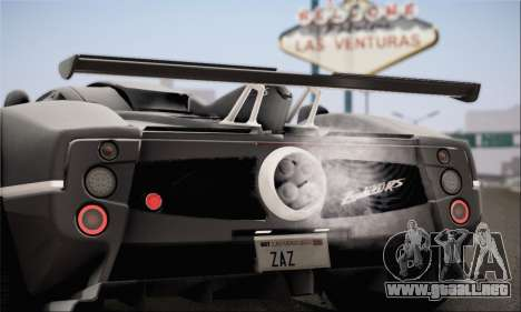Pagani Zonda 760RS para GTA San Andreas left