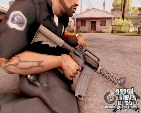 M4A1 BF4 para GTA San Andreas sucesivamente de pantalla