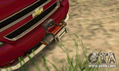 Chevrolet Tahoe Final para GTA San Andreas vista hacia atrás