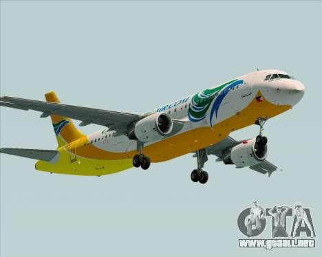 Airbus A320-200 Cebu Pacific Air para la visión correcta GTA San Andreas