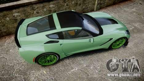 Chevrolet Corvette Z06 2015 TireCon para GTA 4 visión correcta