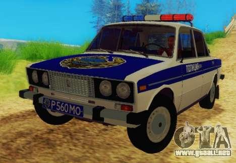 VAZ-2106 de la Policía para GTA San Andreas