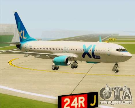 Boeing 737-800 XL Airways para GTA San Andreas left