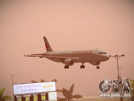 Airbus A320-214 Air Canada para visión interna GTA San Andreas
