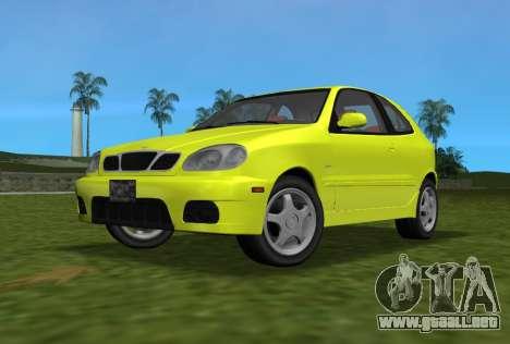 Daewoo Lanos Sport NOSOTROS 2001 para GTA Vice City vista posterior