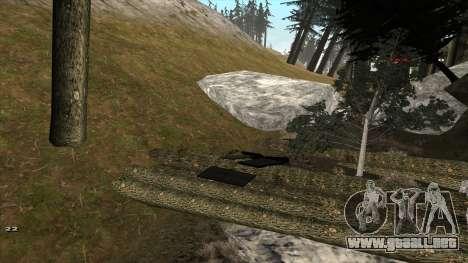 Трасса Offroad v1.1 por Rappar313 para GTA San Andreas sucesivamente de pantalla