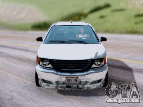 GTA V Minivan para la visión correcta GTA San Andreas