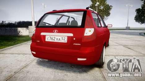 ВАЗ-2171 INSTALADO Antes de rims1 para GTA 4 Vista posterior izquierda