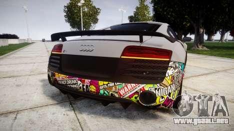 Audi R8 LMX 2015 [EPM] Sticker Bomb para GTA 4 Vista posterior izquierda