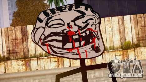 Skin de Meme Troll Golpiado para GTA San Andreas tercera pantalla