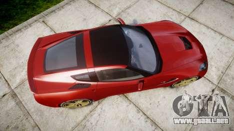 Chevrolet Corvette C7 Stingray 2014 v2.0 TireBFG para GTA 4 visión correcta