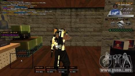 C- HUD A.C.A.B para GTA San Andreas segunda pantalla
