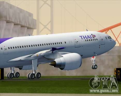 Airbus A300-600 Thai Airways International para GTA San Andreas interior