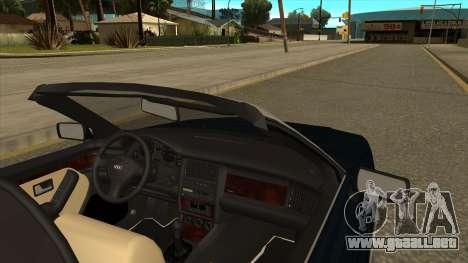 Audi 80 Cabrio para GTA San Andreas vista posterior izquierda