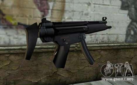 Retextured MP5 para GTA San Andreas segunda pantalla