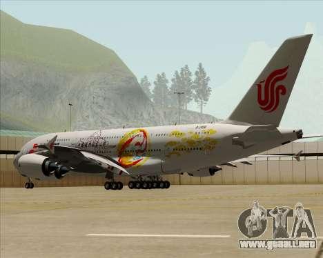 Airbus A380-800 Air China para la vista superior GTA San Andreas
