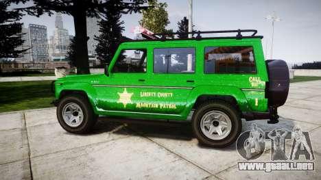 GTA V Benefactor Dubsta [ELS] Sheriff para GTA 4 left