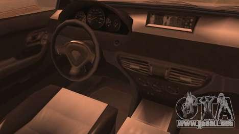 GTA 5 Ubermacht Sport IVF para GTA San Andreas vista posterior izquierda