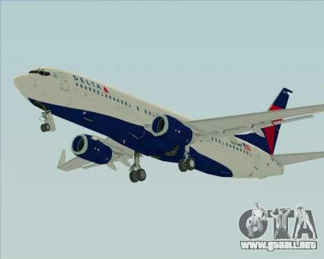 Boeing 737-800 Delta Airlines para vista inferior GTA San Andreas